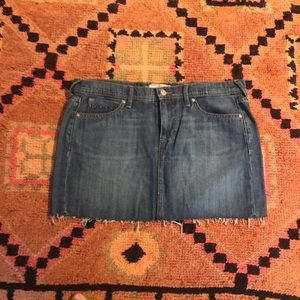 Distressed Old navy jean skirt
